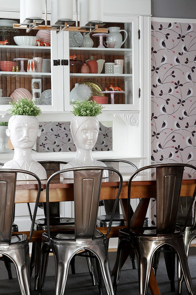 New marais chairs in the dining room makingitlovely my for Dining room head chairs