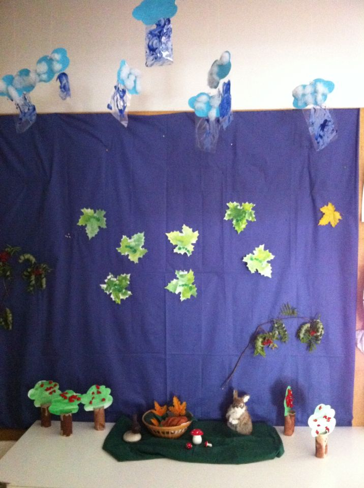 Autumn crafts in the group of kids under 3 years