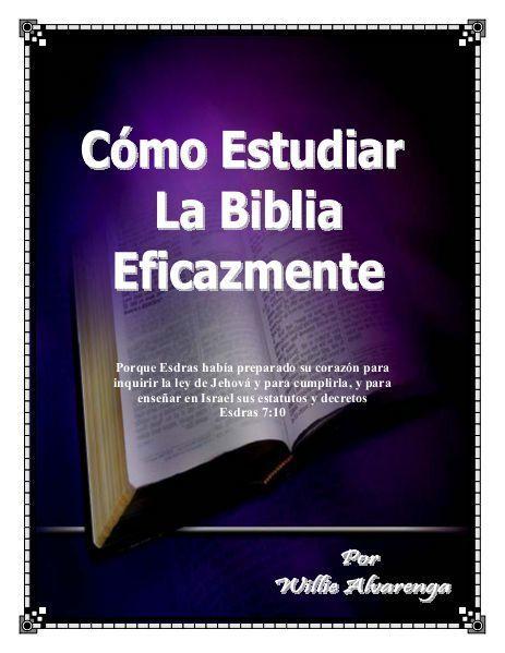 Estudiando la Biblia Eficazmente