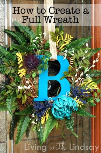 How to create the fullest and fluffiest initial wreath that you have ever seen.