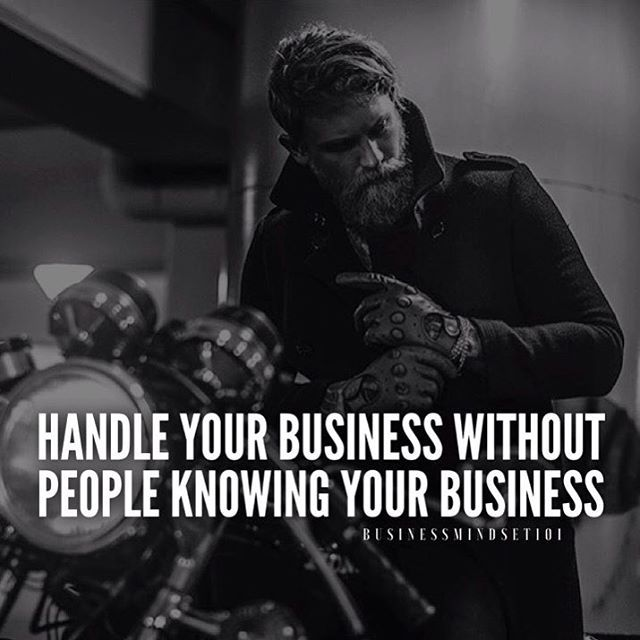 Mind your own business.  Photo credit: @lanedorsey