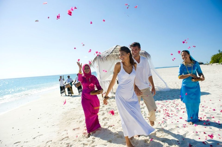 Wedding celebrations at The Beach House at Iruveli Maldives - blessings in paradise