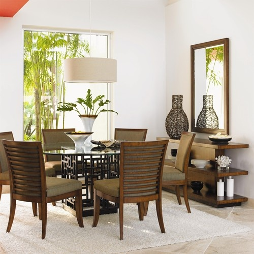 Ocean Club 7 Piece South Sea Round Glass Top Table U0026 Kowloon Chair Set By  Tommy Bahama Home At Baeru0027s Furniture