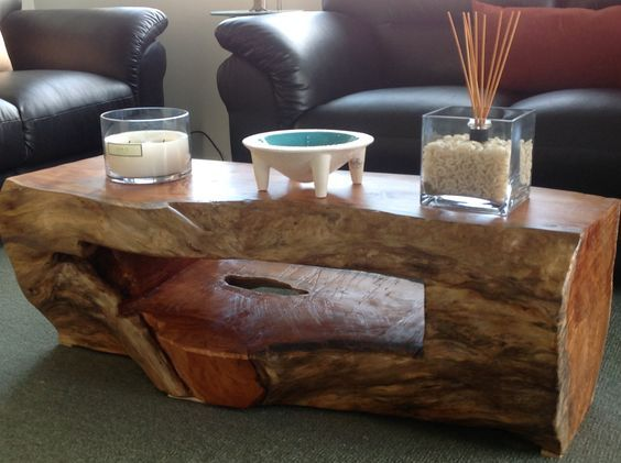 Wonderful Exceptionally Inventive DIY Stump Projects Of Trees U0026 Best Interior Ideas. Log  Coffee TableLog ...