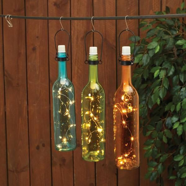 28 best images about summer lighting on pinterest for Wine bottle patio lights