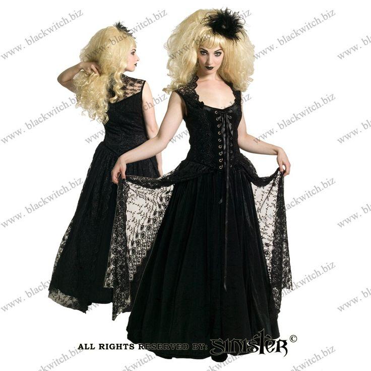 Gothic winkel in Antwerpen BlackWitch. Gothic kleding. Korsetten.| Lange Jurk zwart