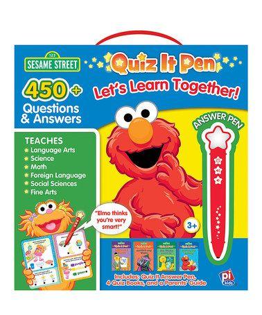 Look at this #zulilyfind! Sesame Street Quiz-It Pen & Book Set #zulilyfinds