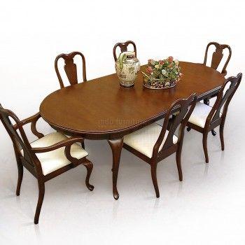 Set Meja Makan Elegan | Indo Furniture