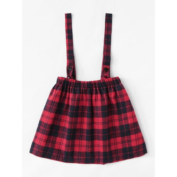 Checked Pleated Pinafore Skirt ($12) ❤ liked on Polyvore featuring skirts, pinafore skirt, checked pleated skirt, white skirt, white knee length skirt and knee length pleated skirt