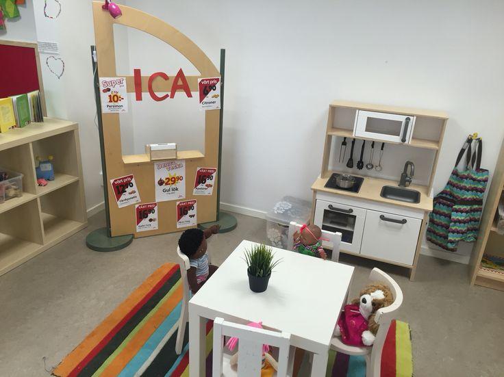 Pedagogisk miljö förskola, köksvrå, Ica affär
