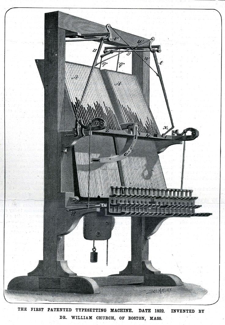 linotype machine invented