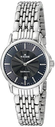 EDOX Damen-Armbanduhr LES BEMONTS -ULTRA SLIMM SWISS MOVEMENT Analog Quarz Edelstahl 57001 3M GIN - http://uhr.haus/edox/edox-damen-armbanduhr-les-bemonts-ultra-slimm-3m-2