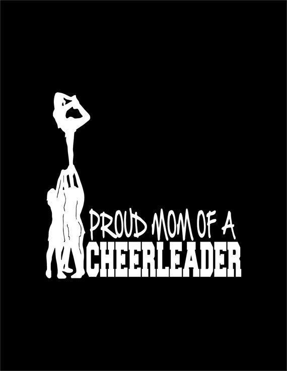 Proud Mom of a Cheerleader Decal Stunt Scorpion Cheerleading Laptop Cheer Window Vinyl Car Sticker on Etsy, $5.49