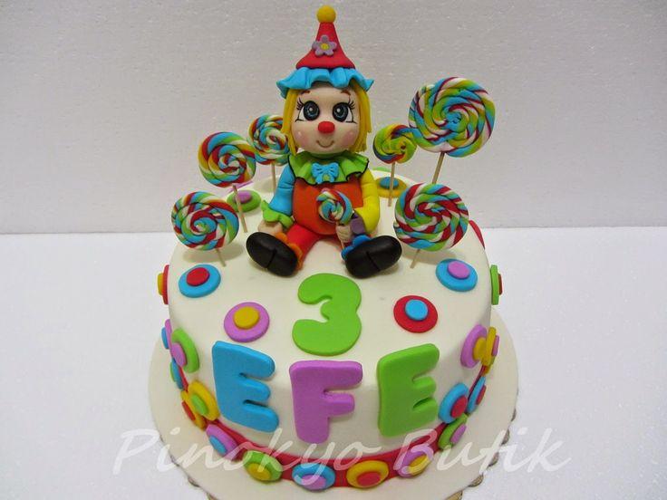 Pinokyo Butik Kurabiye ve Pasta - İzmit: Palyaçolu doğum günü pastası...
