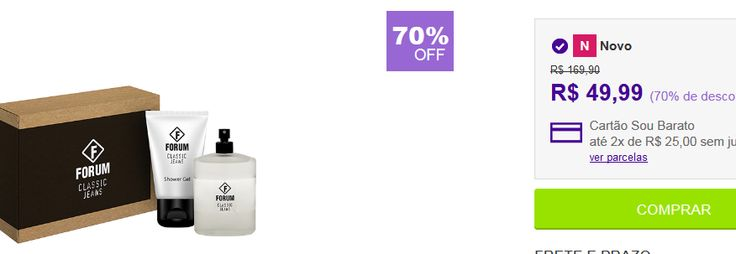 Kit Perfume Forum Classic Jeans Unissex 100ml  Shower Gel 90ml << R$ 4999 >>