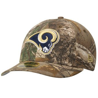 Men's New Era Realtree Camo Los Angeles Rams Low Profile 59FIFTY Hat