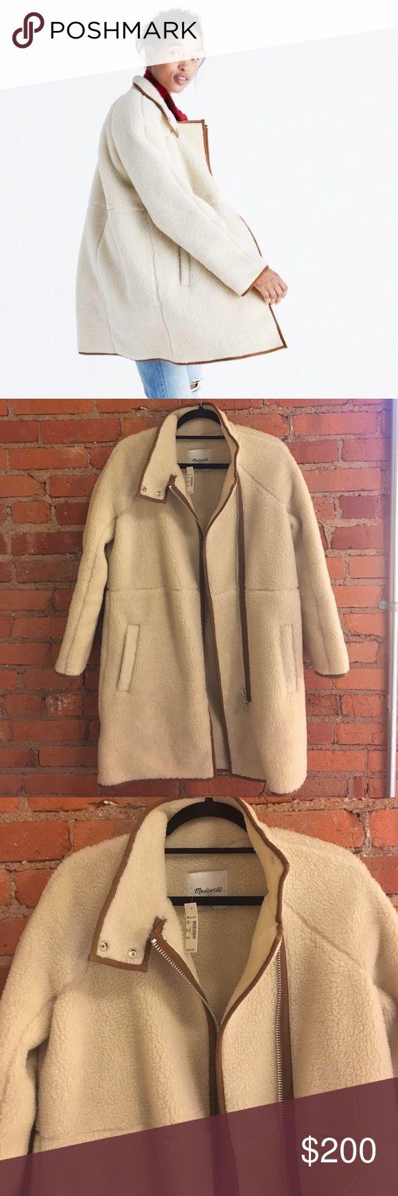 NWT Madewell Sherpa cocoon coat size XS New with tags. Madewell Sherpa cocoon coat size XS Madewell Jackets & Coats