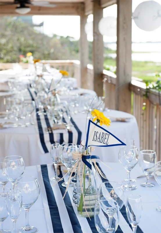 Stripes. Beautiful nautical themed wedding on the OBX. Daniel Pullen Photography http://www.outerbanksweddingassoc.org/membersearch/memberpage.html?MID=1847=Photographers=16 #nauticalwedding #beachwedding #obxwedding