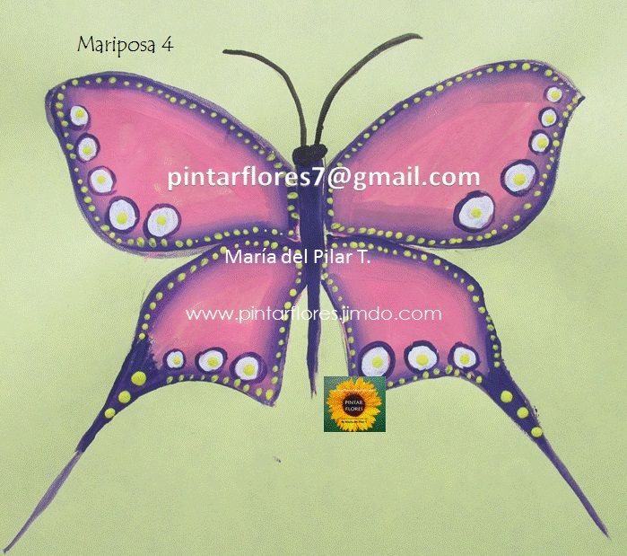 Pintar  Mariposas en Pinceladas Paint butterflies in One Stroke. http://youtu.be/Iu46L7FOxVE