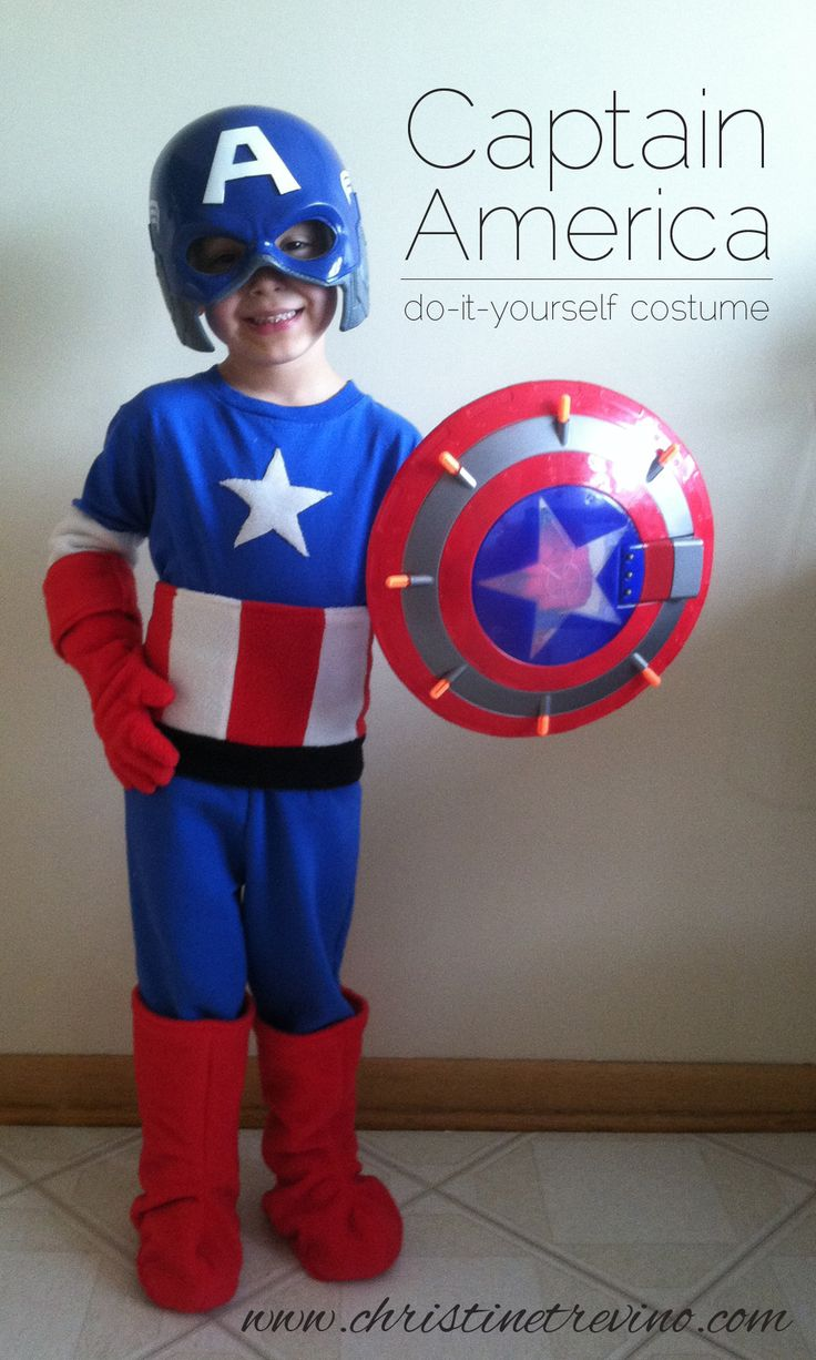 For Everett. Complete tutorial with pictures to make your own child's Captain America Costume.