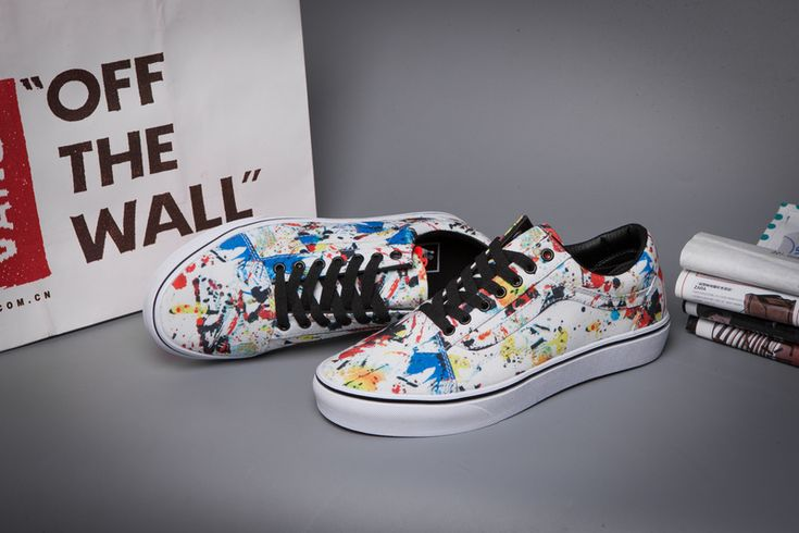 Vans Winter Color White Neutral Graffiti Male And Female Old Skool Casual Canvas Shoes  Model LC07 #Vans