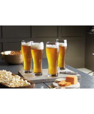 Lenox Tuscany Craft Beer Wheat Beer Glasses, Set of 4 $54.00 With it's large mouth and narrow body, this tall glass is the ideal vessel for wheat beers and most pale/blonde beers. By tipping the glass back, the aromas that characterize these brews are pushed to the nose, allowing the drinker to enjoy the beer's full flavor.