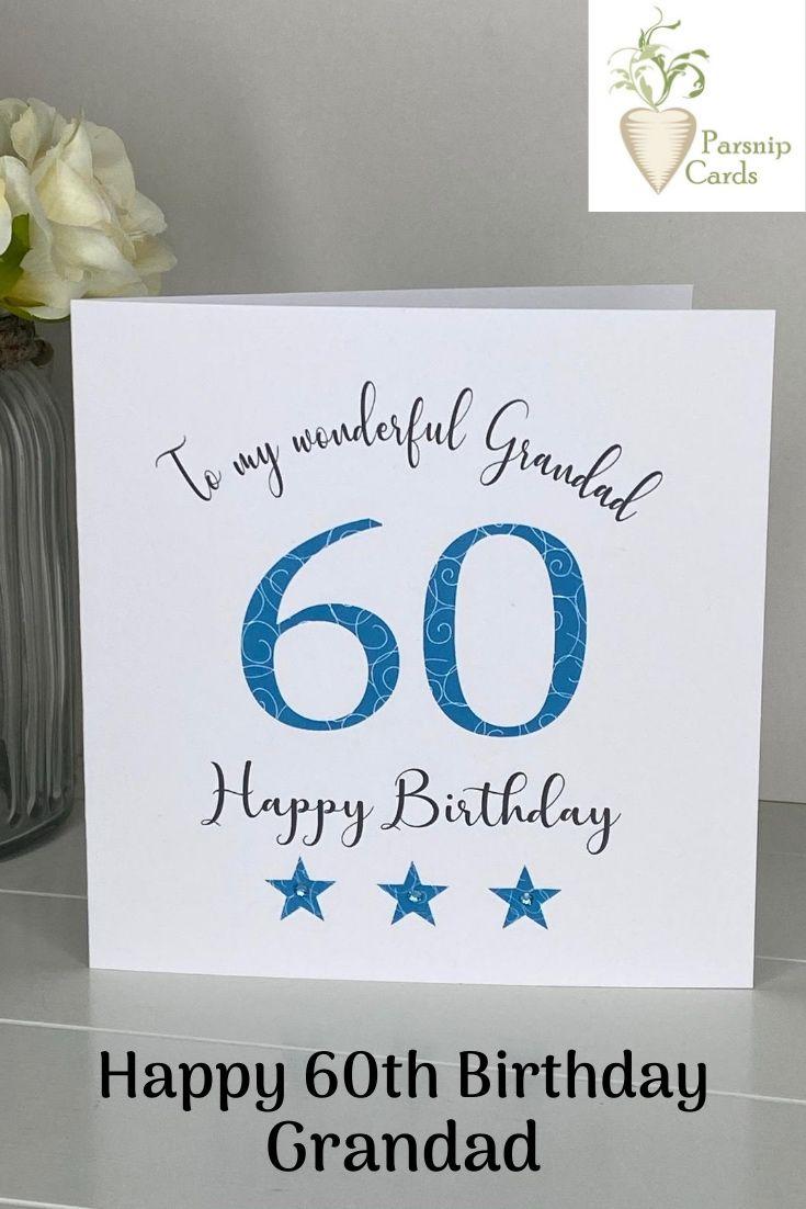 60th Birthday Card Dad Grandad Brother Husband Cousin Friend Etsy 60th Birthday Cards Dad Birthday Card Birthday Cards