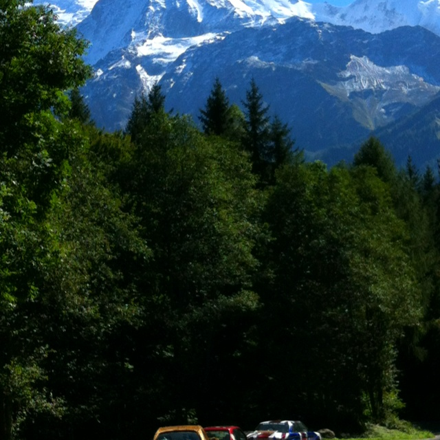 Mont Blanc & a hamster car :-)