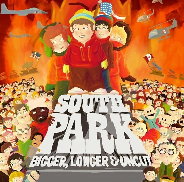 South Park bigger longer and uncut movie cover