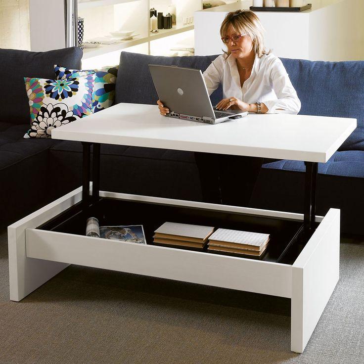 Mesa de centro que se eleva mesas pinterest centro mesas y muebles convertibles - Mesas de centro que se elevan ...