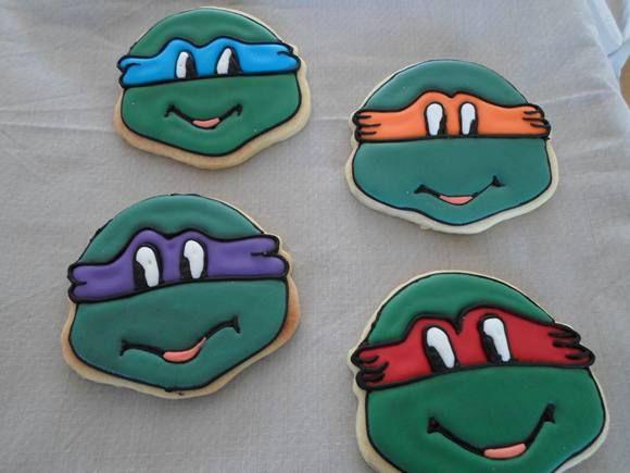 Ninja Turtle Theme Biscuits