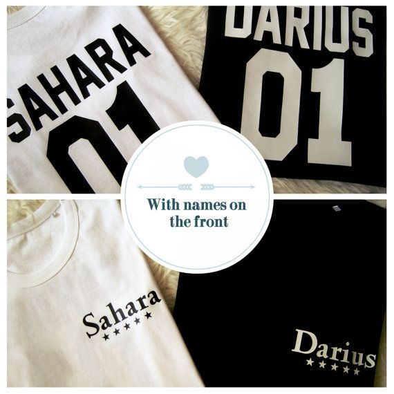 Custom couple shirts, matching shirts for couples, for her and for him