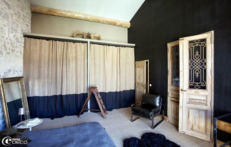 les 25 meilleures id es de la cat gorie rideau de placard sur pinterest traitements de fen tre. Black Bedroom Furniture Sets. Home Design Ideas
