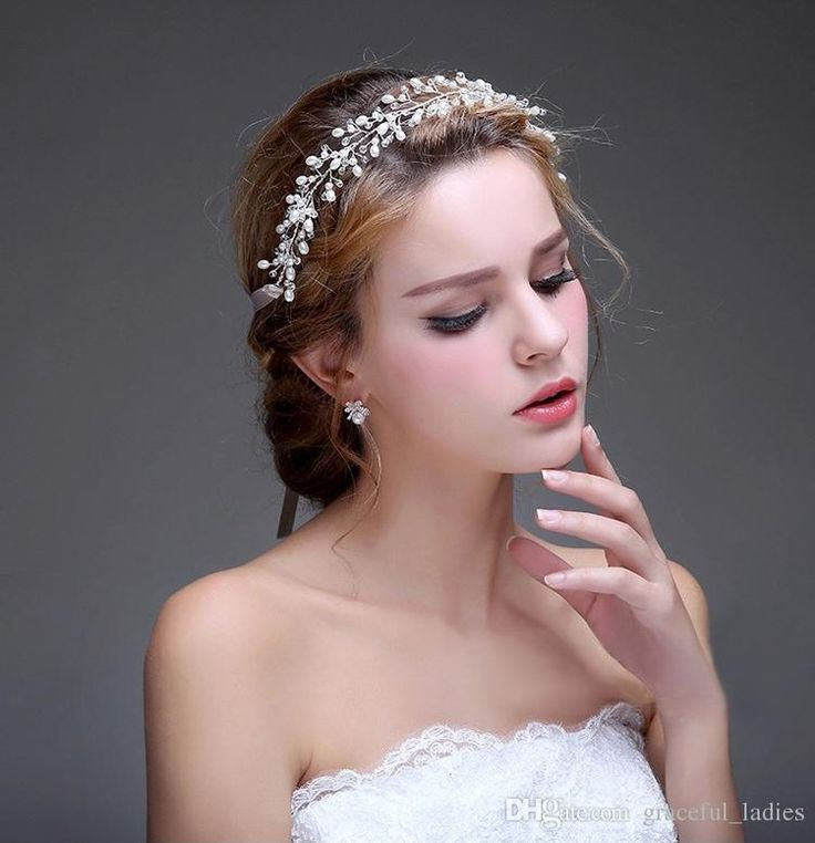 Wholesale Wedding Hair Accessories Hairband Women Clear Beads Silver/Gold  No Fading Copper Wire Wedding Jewelry Cheap Tiaras Custom Made
