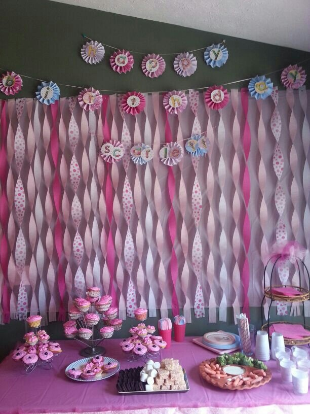 Streamer Decoration Ideas For Baby Shower