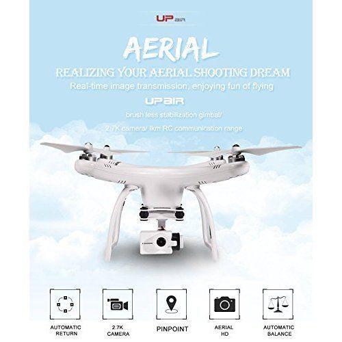 Quadcopter Drone Camera HD FPV Monitor Screen GPS Auto Return Aerial Photography #QuadcopterDroneCamera