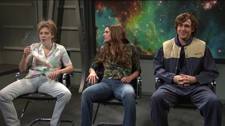 Ryan Gosling giggles during Comedy Sketch