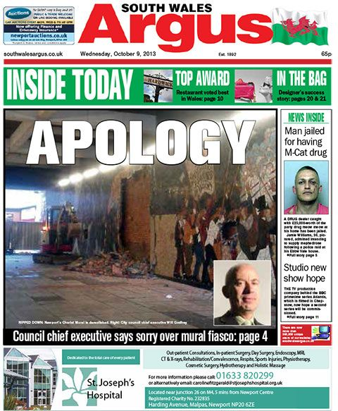 264 best images about south wales argus front pages on for Chartist mural newport