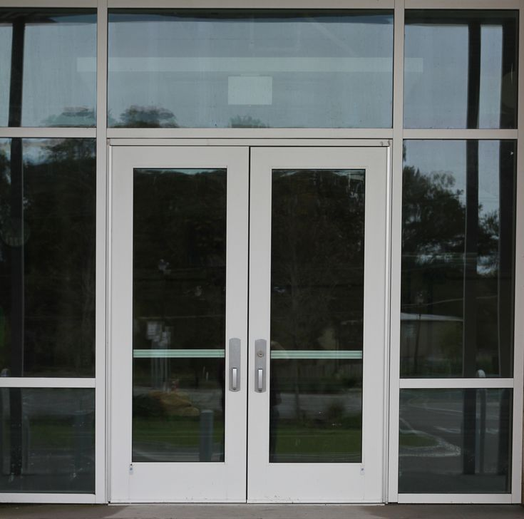 Commercial Glass Door Entrance Texture For Building And