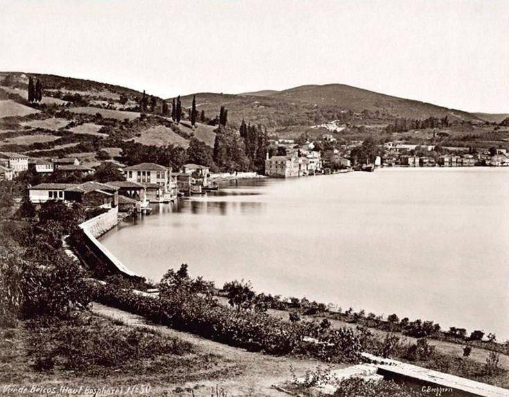 Beykoz Kasrı Bahçesi'nden Beykoz'a bakış. (1880'li yıllar. Guillaume Berggren) #istanbul