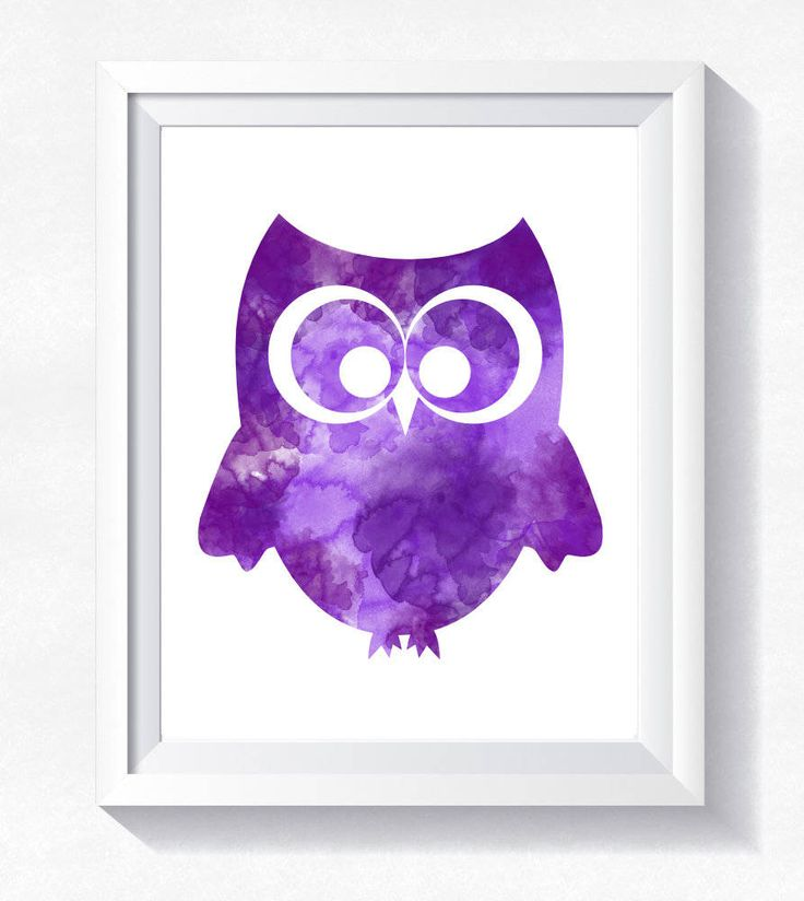 Cute owl print, purple owl wall art, owl watercolor, toddler wall art, nursery printable, instant download, little owl printable poster by HappyLittleFrog on Etsy