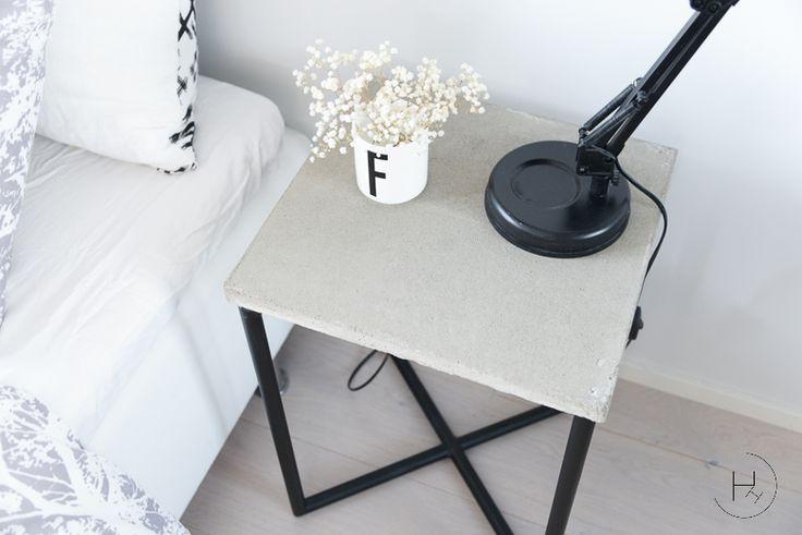 Heinässä heiluvassa: Kauan odotettu: DIY - Betoninen yöpöytä