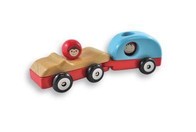 Great for little holiday makers. The car and caravan are held together with hidden magnets! www.discoveroo.com