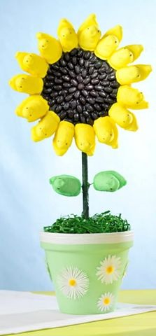 Easter sunflower with Peeps! I think this falls under the category of Food Craft! :-)