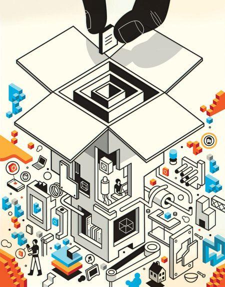 CMYK Magazine // Insights: Harry Campbell (CMYK 55) / Blog - CMYK Magazine Inc.  isometric illustration