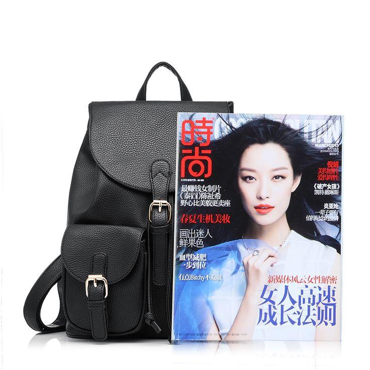 Школьный женский рюкзак свободного покроя из искусственной кожи от марки Realer, сумка из новой коллекции известного дизайнера Ofertas для девочек  купить на AliExpress