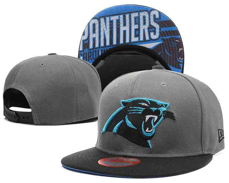 NFL Carolina Panthers Grey Snapback Hats--TX