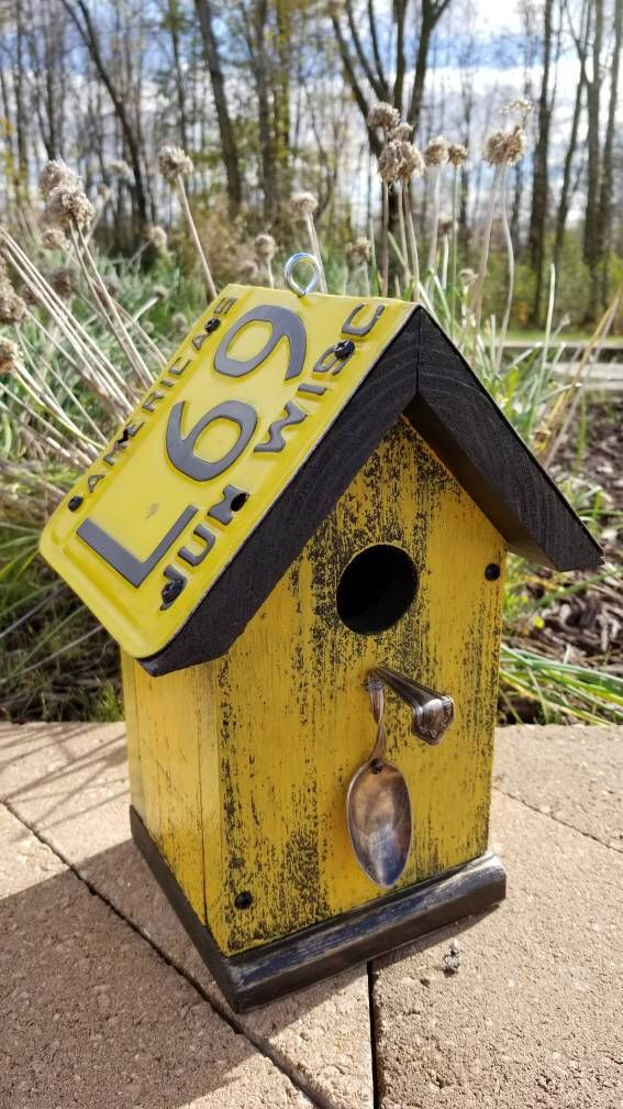 Spoon Birdhouse by SBMsCreations on Etsy https://www.etsy.com/listing/569412517/spoon-birdhouse