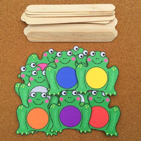 Лягушка Цвет Сортировать для детей дошкольного и детский сад