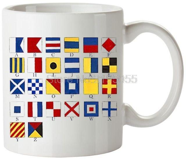 Bandeiras náuticas legal personalizado caneca canecas canecas de café